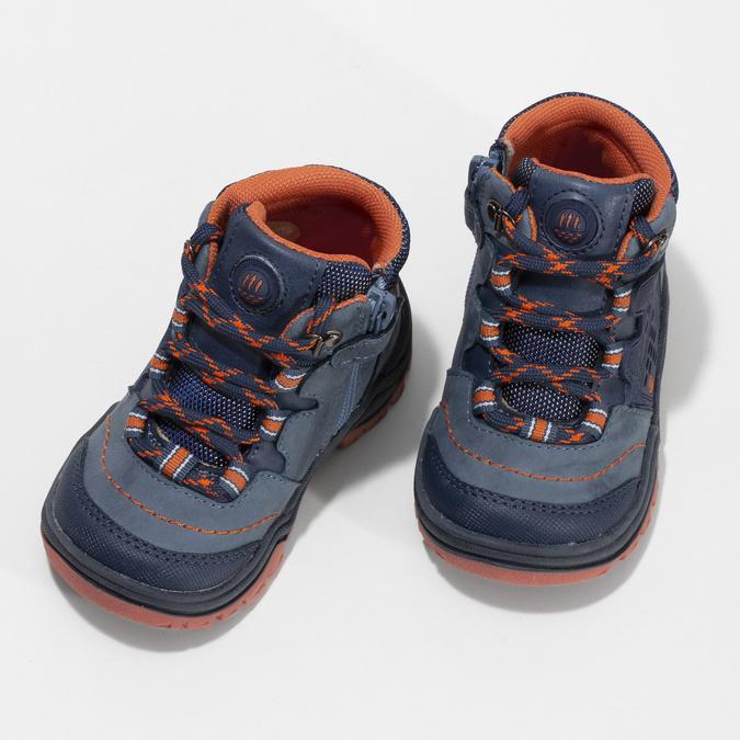 Dětská modrá kotníčková obuv bubblegummers, modrá, 111-9720 - 16