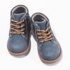 Dětská modrá kotníčková obuv s prošitím bubblegummers, modrá, 116-9620 - 16