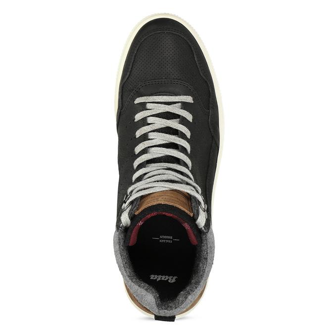Černé pánské kotníčkové kožené tenisky bata, černá, 846-6881 - 17