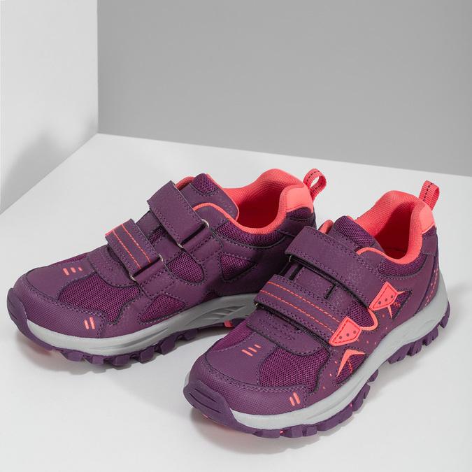 Fialové dětské tenisky na suché zipy mini-b, fialová, 321-5616 - 16