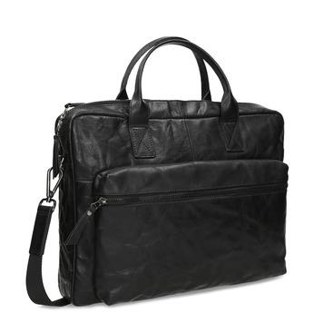 Černá kožená pánská taška na dokumenty bata, černá, 964-6615 - 13