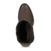 Hnědé dámské kozačky z broušené kůže bata, hnědá, 696-4601 - 17