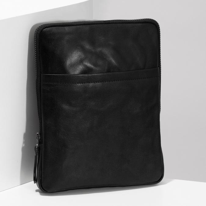 Pánská černá kožená Crossbody taška bata, černá, 964-6614 - 17