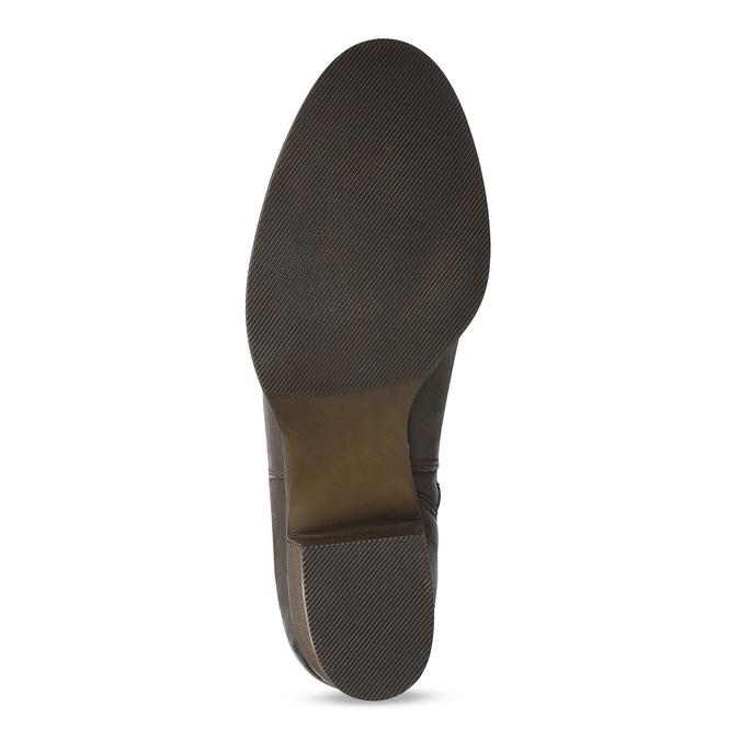Hnědé dámské kozačky z broušené kůže bata, hnědá, 696-4601 - 18