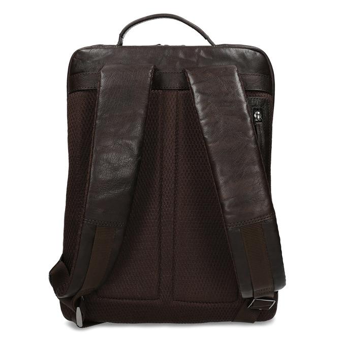 Hnědý kožený pánský batoh bata, hnědá, 964-4328 - 16