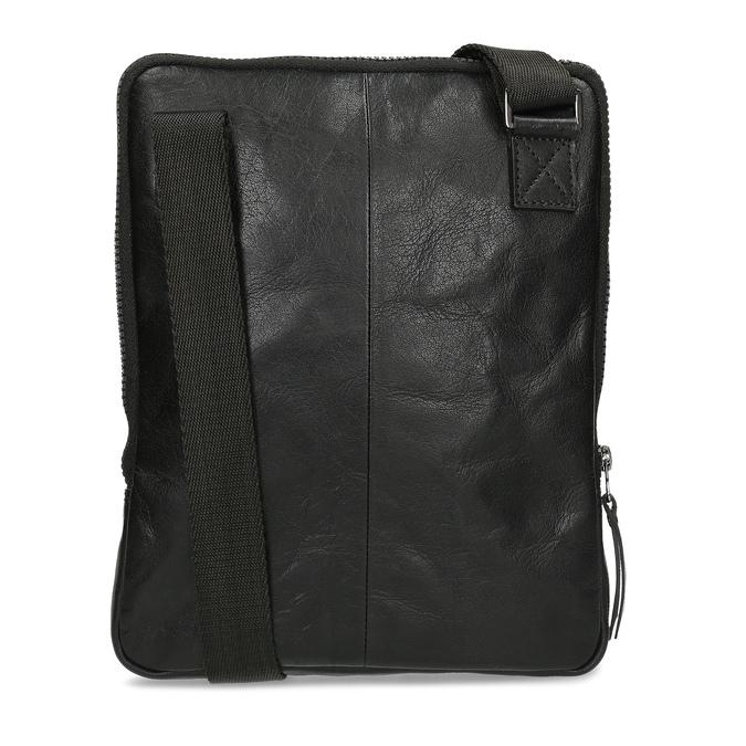 Pánská černá kožená Crossbody taška bata, černá, 964-6614 - 16