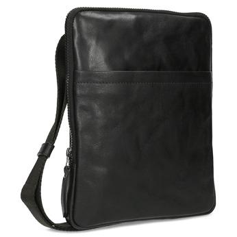 Pánská černá kožená Crossbody taška bata, černá, 964-6614 - 13