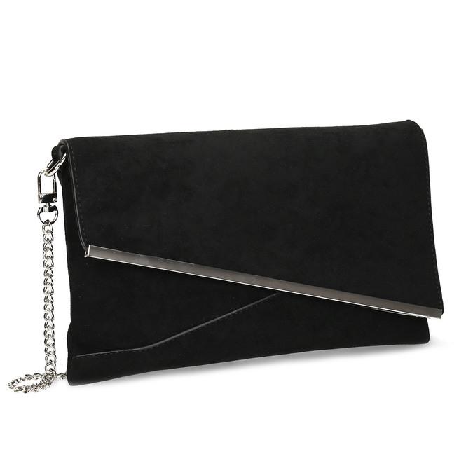 Černé dámské psaníčko s řetízkem bata, černá, 969-6706 - 13