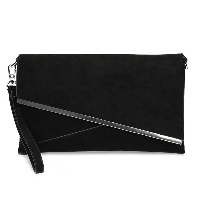 Černé dámské psaníčko s řetízkem bata, černá, 969-6706 - 26