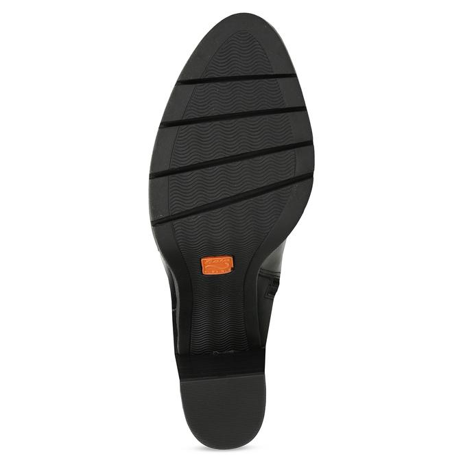 Kožené vysoké kozačky na stabilním podpatku flexible, černá, 794-6613 - 18