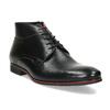 Kožená pánská černá kotníčková obuv conhpol, černá, 894-6600 - 13
