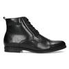 Kotníčková pánská černá kožená obuv conhpol, černá, 894-6604 - 19