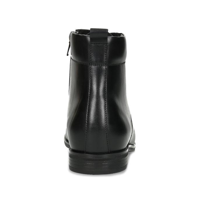 Kotníčková pánská černá kožená obuv conhpol, černá, 894-6604 - 15