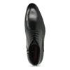 Černá pánská kožená kotníčková obuv conhpol, černá, 894-6603 - 17