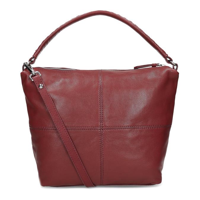 Červená dámská kožená Hobo kabelka bata, červená, 964-5233 - 16