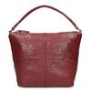 Červená dámská kožená Hobo kabelka bata, červená, 964-5233 - 26