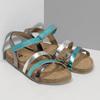 Kožené dětské sandály na suchý zip mini-b, tyrkysová, 466-7611 - 26