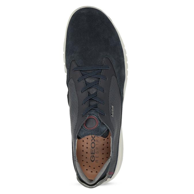 Tmavě modrá pánská kožená obuv geox, modrá, 826-9358 - 17