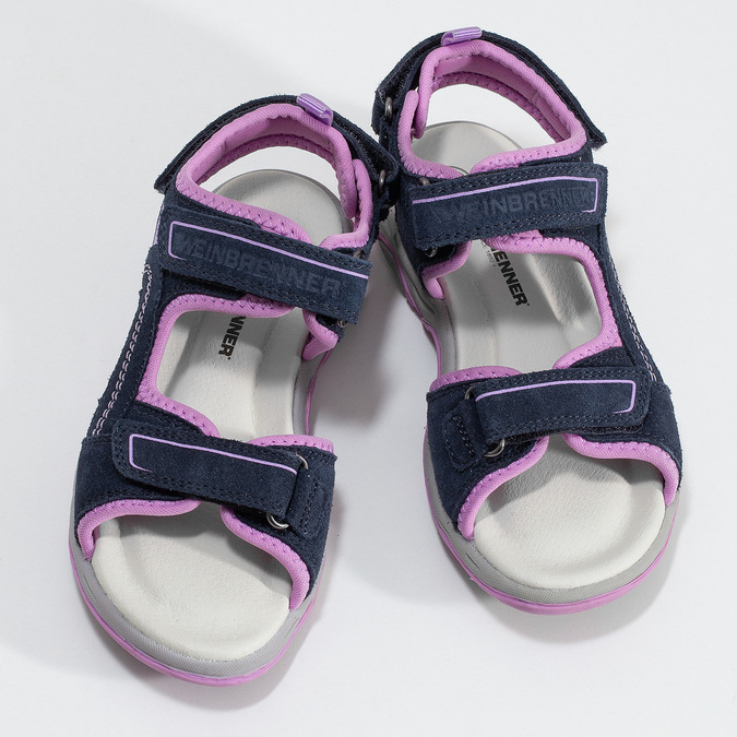 Dívčí sandály kožené weinbrenner, modrá, 463-9708 - 16