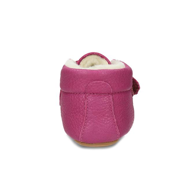 Růžová kožená dětská zimní obuv froddo, růžová, 124-5606 - 15