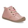 Dětská růžová kotníčková kožená obuv froddo, růžová, 124-5607 - 13
