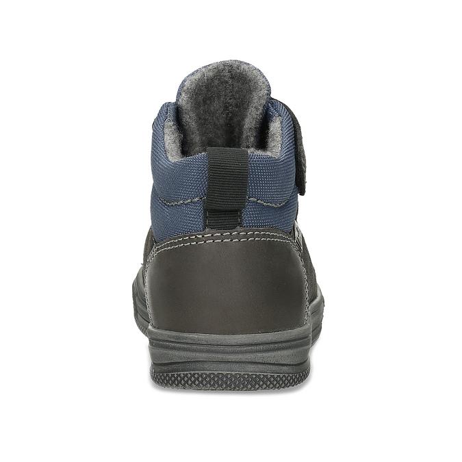 Šedá dětská kotníčková obuv z broušené kůže richter, šedá, 216-2600 - 15