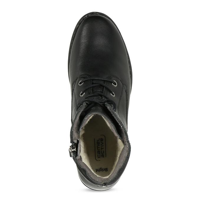 Černá kožená zimní obuv se zateplením camel-active, černá, 696-6592 - 17