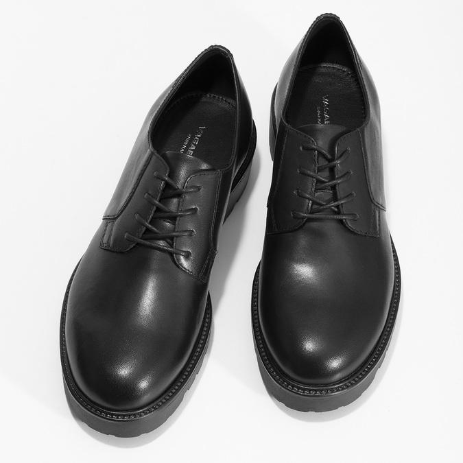 Černé dámské kožené polobotky vagabond, černá, 524-6108 - 16
