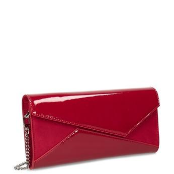 Dámské červené lesklé psaníčko bata, červená, 961-9912 - 13