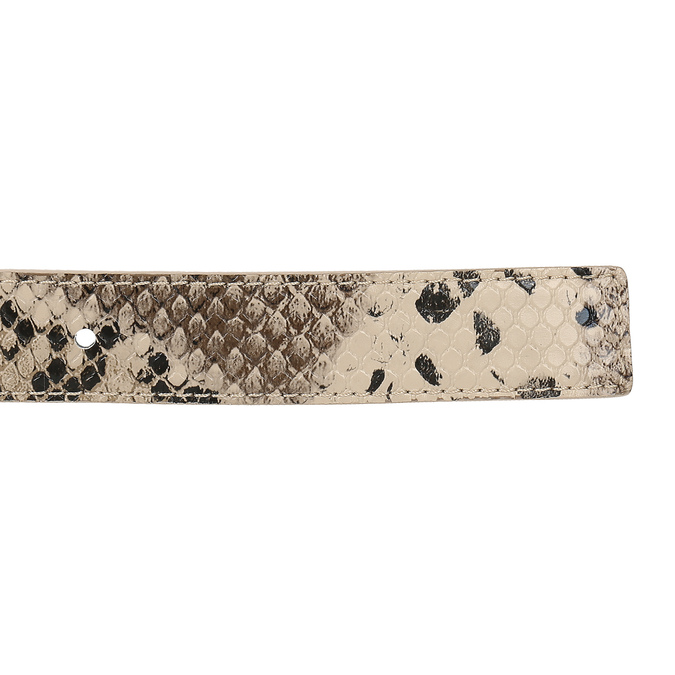 Béžový dámský opasek s hadím vzorem bata, vícebarevné, 951-0702 - 16
