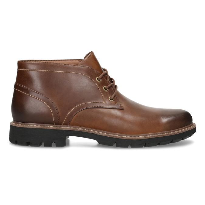 Pánská kožená hnědá kotníčková obuv clarks, hnědá, 846-4830 - 19