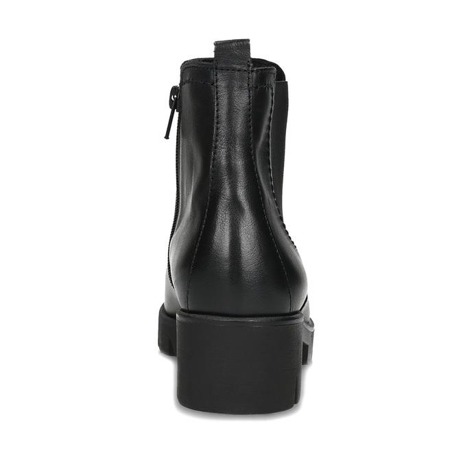 Dámské černé kožené Chelsea kozačky gabor, černá, 594-6218 - 15