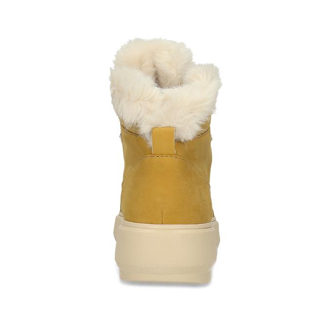 Žlutá dámská kožená zimní obuv geox, žlutá, 596-8542 - 15