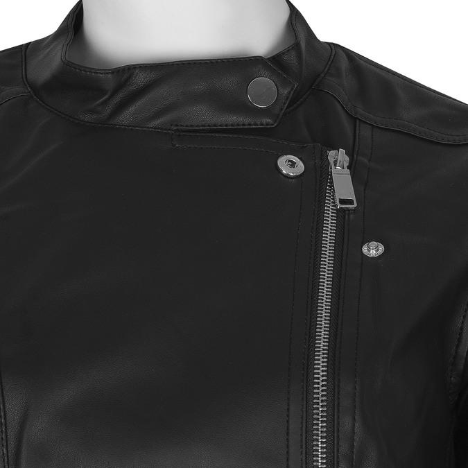 Černá dámská bunda ve stylu křiváku bata, černá, 971-6144 - 16