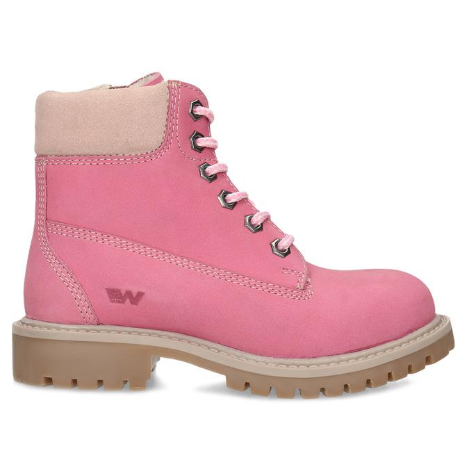 Dětské růžové kožené Worker Boots weinbrenner, růžová, 296-5604 - 19