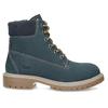 Dětské modré kožené Worker Boots weinbrenner, modrá, 296-9604 - 19