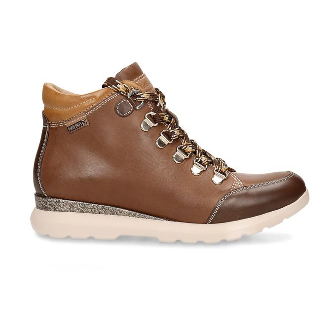 Dámská hnědá kožená zimní obuv pikolinos, hnědá, 596-4616 - 19