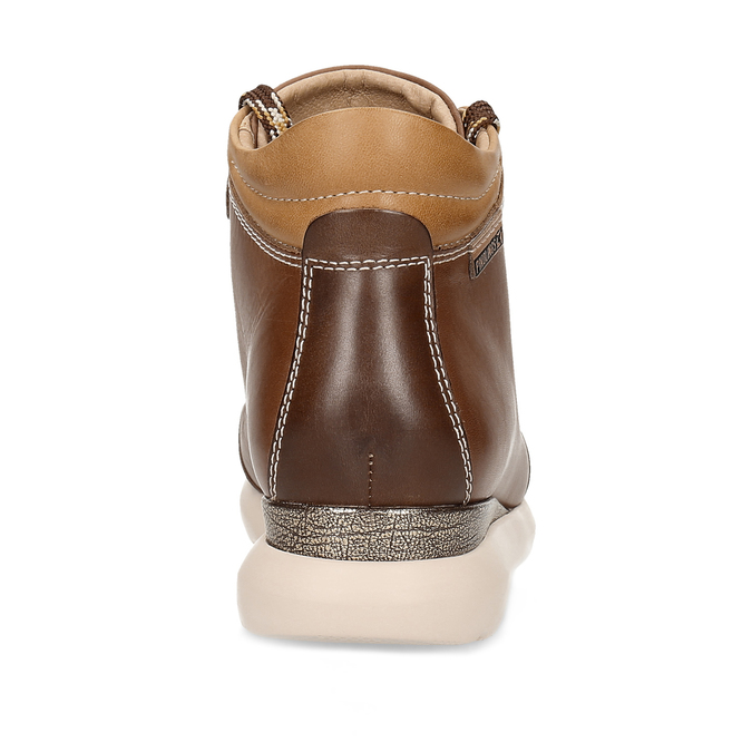 Dámská hnědá kožená zimní obuv pikolinos, hnědá, 596-4616 - 15