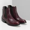 Dámská vínová kožená Chelsea obuv bata, červená, 594-5448 - 26