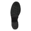Černé dámské kozačky s přezkami bata, černá, 691-6607 - 18