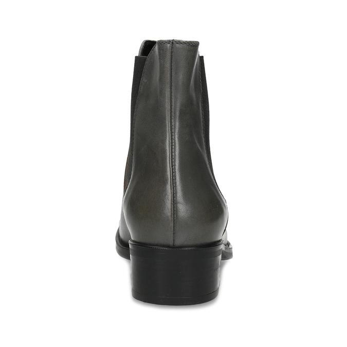 Tmavě khaki dámská kožená Chelsea obuv bata, šedá, 594-3448 - 15