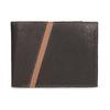 Hnědá pánská kožená peněženka s prošitím bata, hnědá, 944-4624 - 26