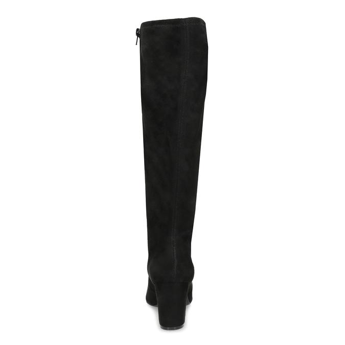 Černé kozačky na stabilním podpatku bata, černá, 699-6606 - 15