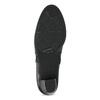 Černé dámské kozačky na stabilním podpatku bata, černá, 694-6612 - 18