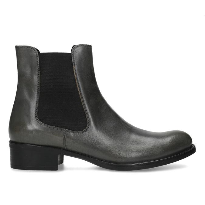 Tmavě khaki dámská kožená Chelsea obuv bata, šedá, 594-3448 - 19