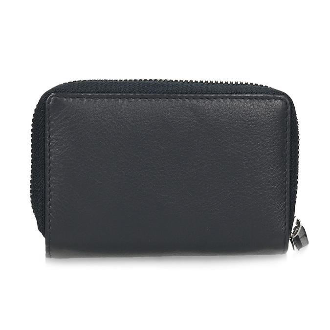 Tmavě modrá dámská kožená peněženka bata, modrá, 944-9623 - 16