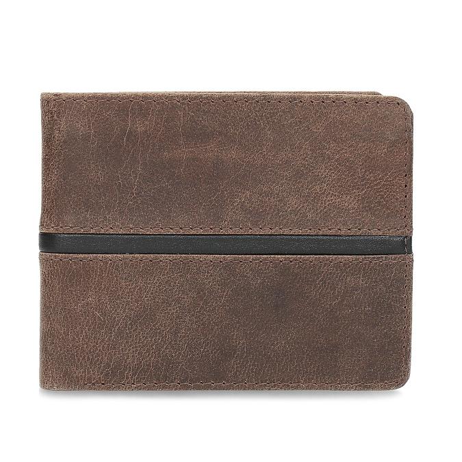 Hnědá pánská kožená peněženka bata, hnědá, 944-4627 - 26