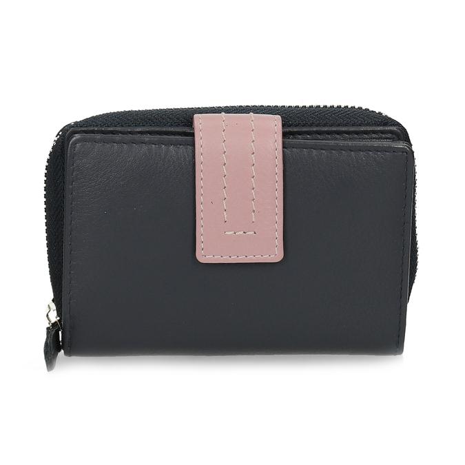 Tmavě modrá dámská kožená peněženka bata, modrá, 944-9623 - 26