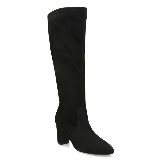 Černé kozačky na stabilním podpatku bata, černá, 699-6606 - 13