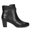 Černé dámské kozačky na stabilním podpatku bata, černá, 694-6612 - 19